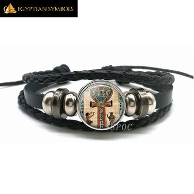 Ancient Egypt Leather Bracelet