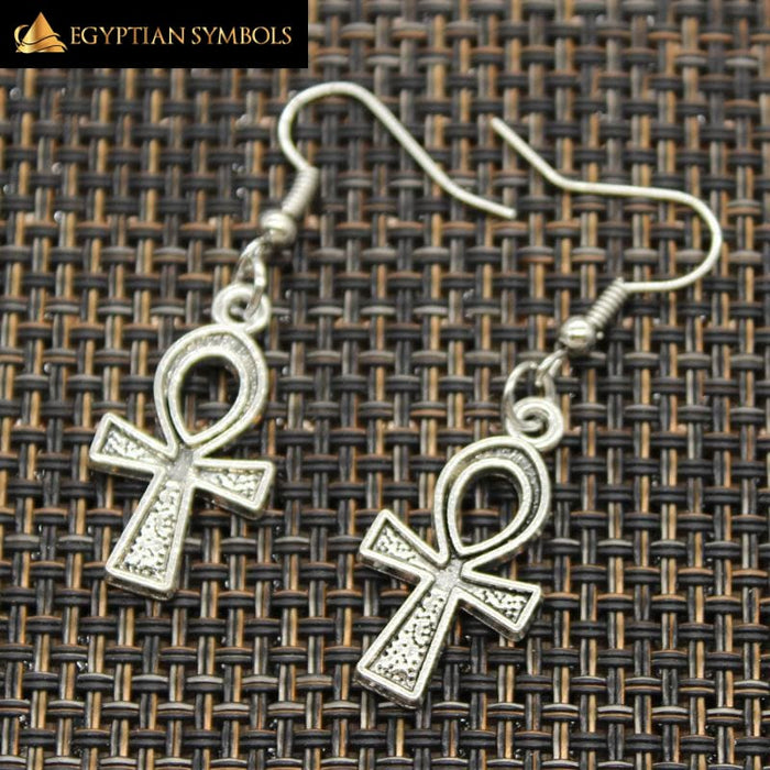 Handmade Cross Egyptian Earrings