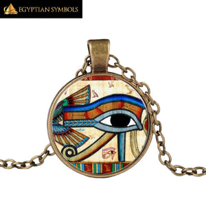 Retro Egyptian Eye of Horus Necklace