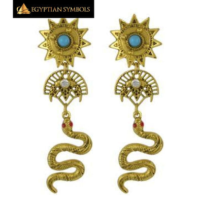 Egyptian Snake Long Earrings