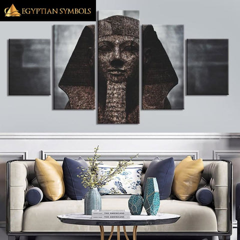 Egyptian Painting Polyptych 5 pieces