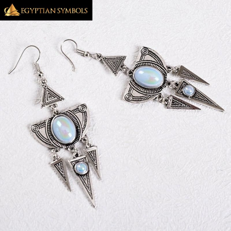 Antique Silver Egyptian Earrings