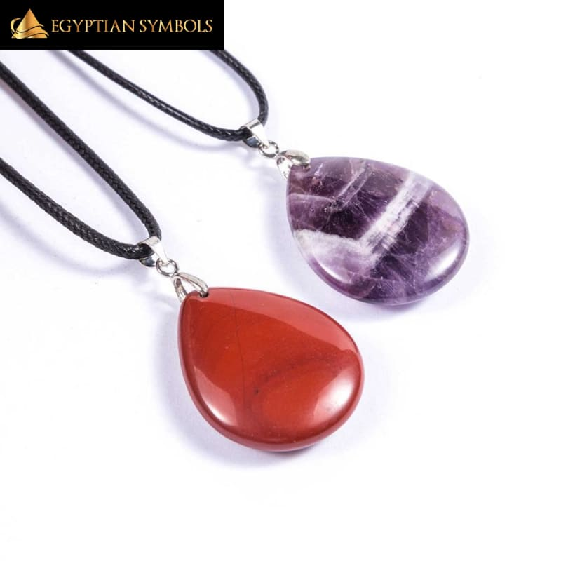 Egyptian Natural Crystal Charm Necklace