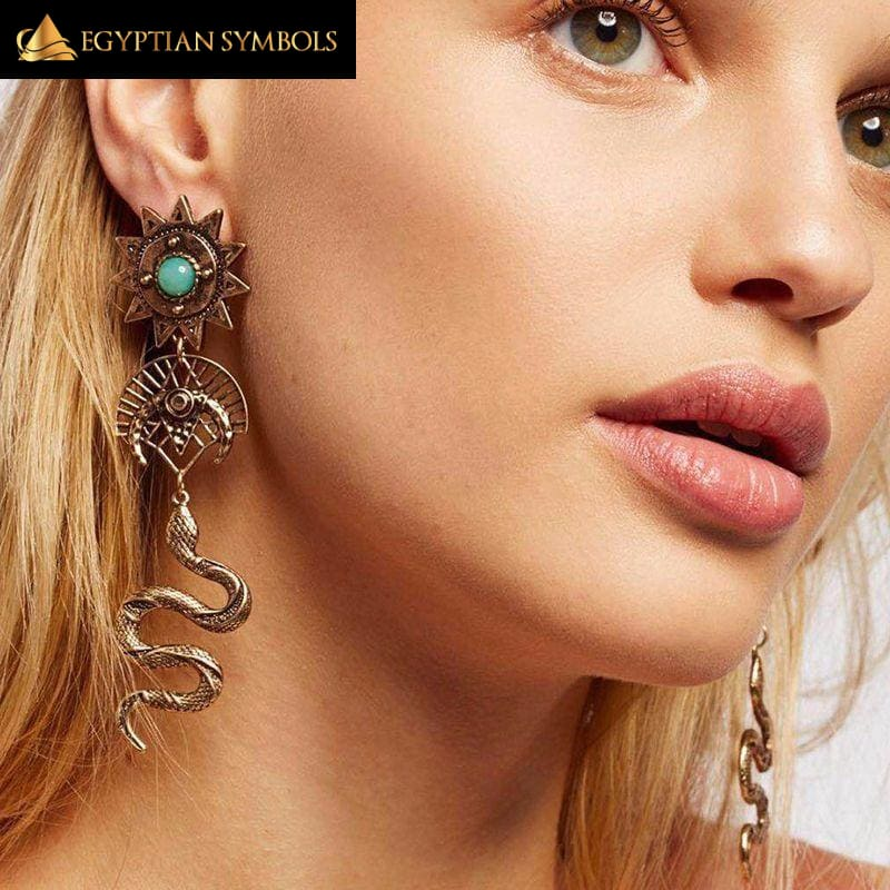 Ethnic Earrings - Egyptian Snake