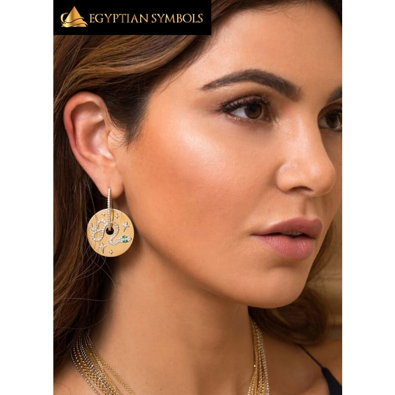 Gold plated Egyptian Earrings