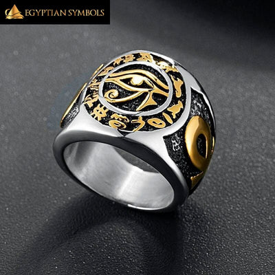EGYPTIAN RING - Eye of Horus God