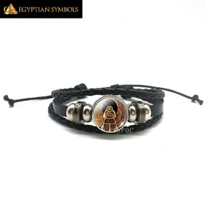Egyptian Goddess Leather Bracelet
