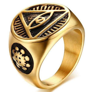 EGYPTIAN RING - Vintage Eyes Symbol