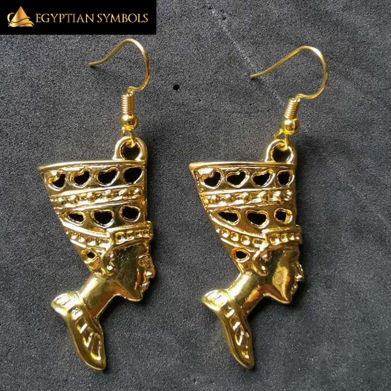 Egyptian Earrings - Queen Nefertiti