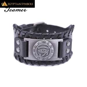 Eye of Horus Leather Bracelet Discreet and durable