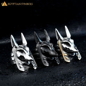 EGYPTIAN RING - God Anubis