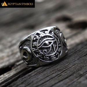 Egyptian Pharaoh Eye Ring