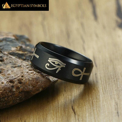 EGYPTIAN RING - Eye Of Horus Ankh