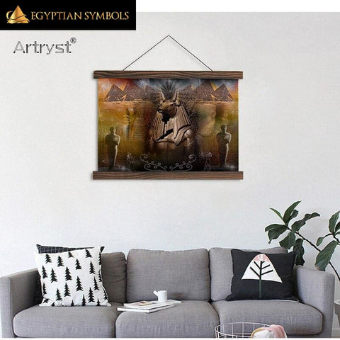 Egyptian Monochrome Painting