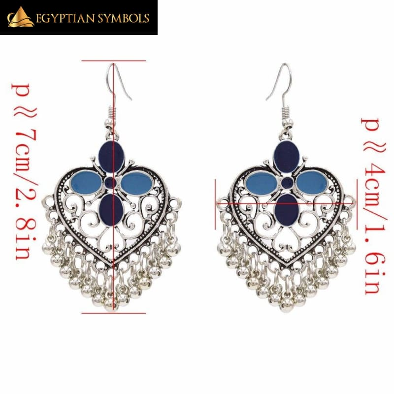 Egyptian earrings in bohemian style