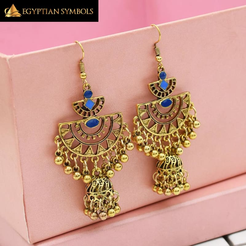 Egyptian Earrings - Big Long Tassel