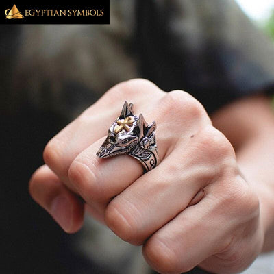 EGYPTIAN RING - Anubis Cross