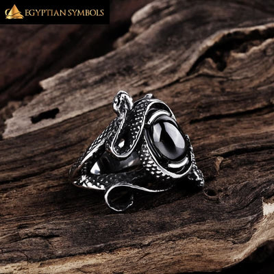 EGYPTIAN RING - Black pattern