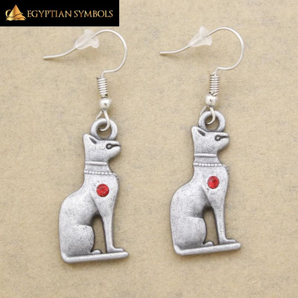 Egyptian Earrings - Bastet