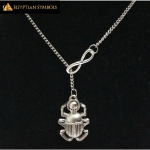 EGYPTIAN NECKLACE - Infinity Scarab