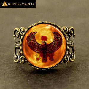EGYPTIAN RING - Horus Glass Dome
