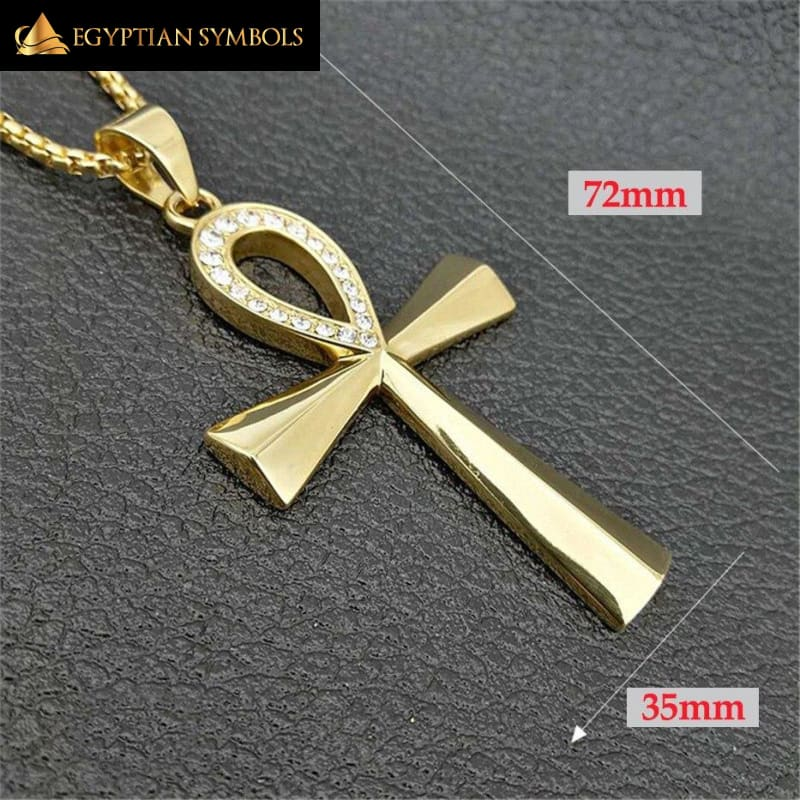 Light Ankh Cross Necklace