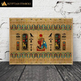 Egyptian Painting monochrome en 2 formats