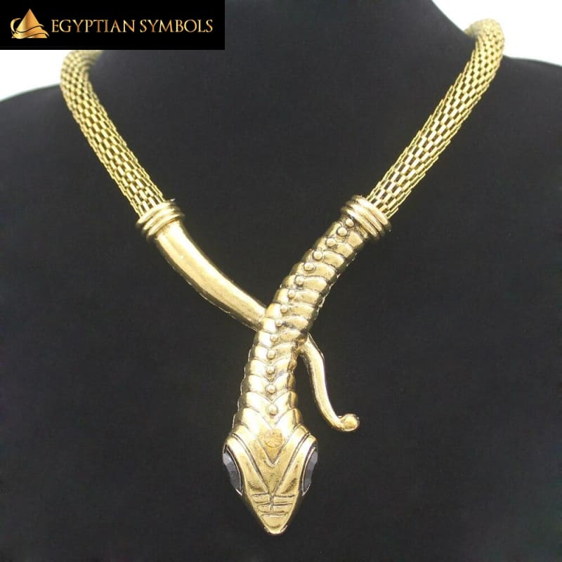 Vintage Gold Silver Egyptian Necklace