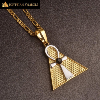 Cross & Pyramid Necklace