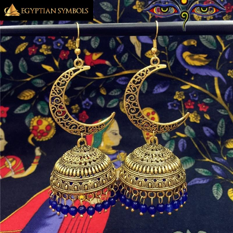 Golden Egyptian Earrings