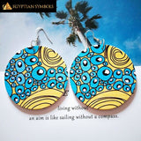 Egyptian earrings- African woods