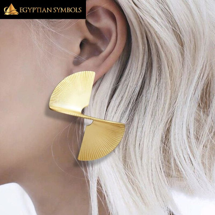 EGYPTIAN CLEOPATRA QUEEN EARRINGS - GOLD-PLATED