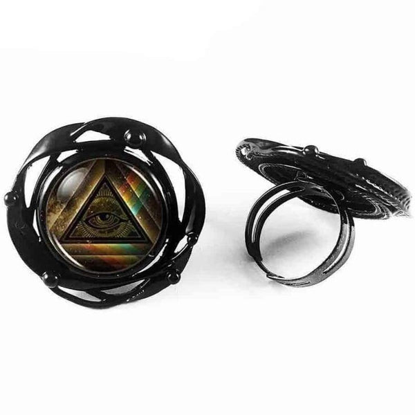 EGYPTIAN RING - Illuminati flower - 100007323