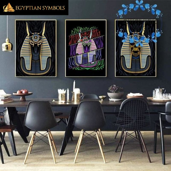 Egyptian painting in Baphomet