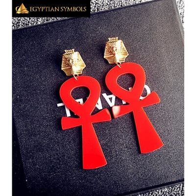 Vintage Style Egyptian Ankh Earrings