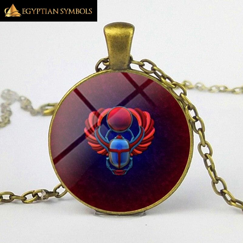 Beetle necklace