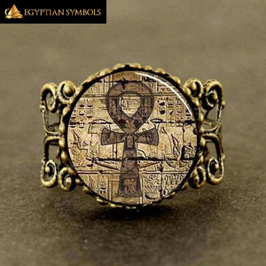 EGYPTIAN RING - Vintage Ankh