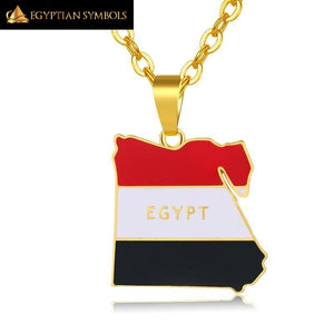 Necklace Egyptian flag with golden chain