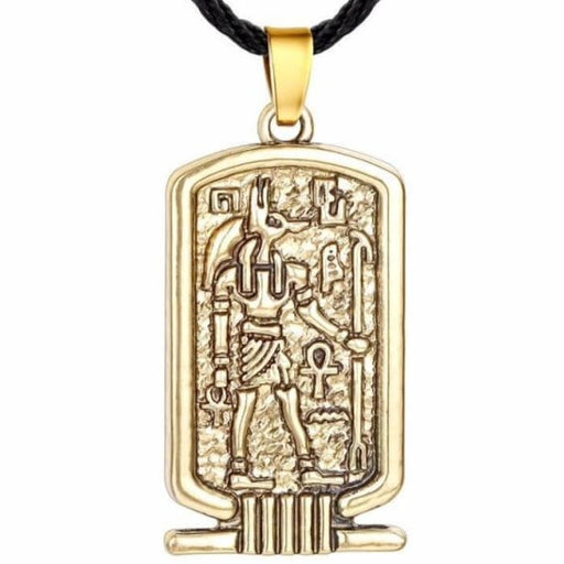 egyptian-cartouche-gold-pendant-necklace