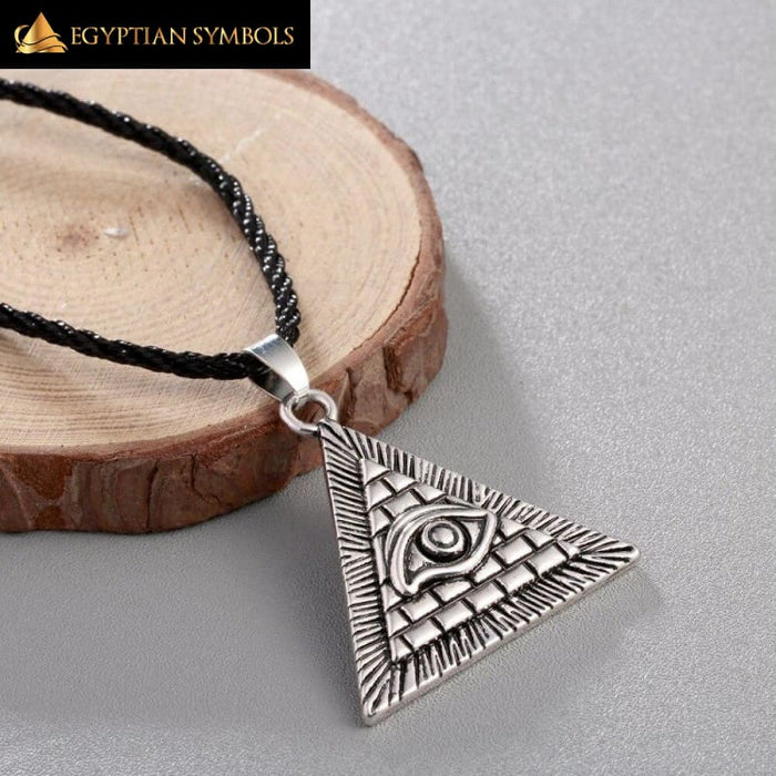 Pyramid All-Seeing Charm Pendant