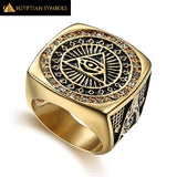 EGYPTIAN RING - Gold Ring Illuminati