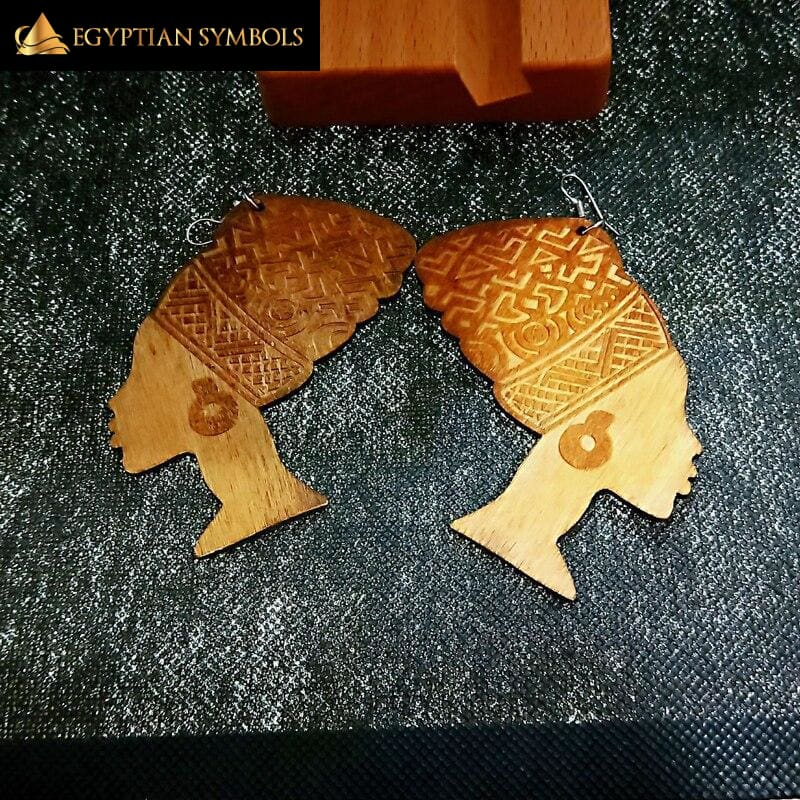 Egyptian Queen Engraved Earrings