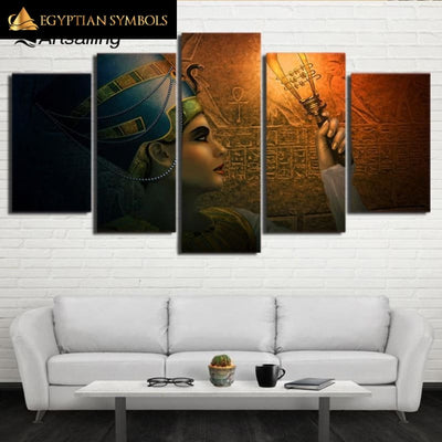 Painting with Queen of Egypt motif