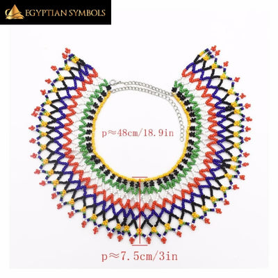 Multicolor African Resin Beaded Necklace