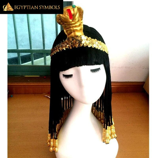 EGYPTIAN CLEOPATRA WIG + WIG CAP - MADE OF HEAT-RESISTANT FIBER