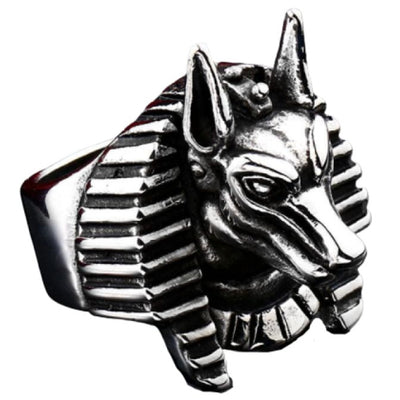EGYPTIAN RING - Anubis Amulet