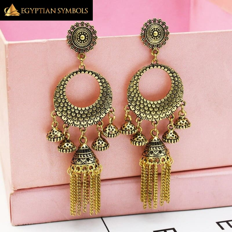 Egyptian Earrings - Tribal