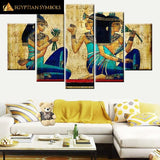 Egyptian Woman Painting in Polyptych format