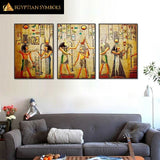 Egyptian Painting Tryptique classic