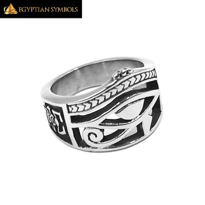 EGYPTIAN RING - Ra Udjat Amulet